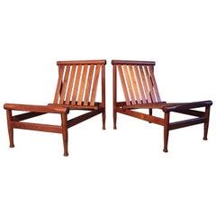 2 Vintage Teak Kai Lyngfeldt Larsen Easy Chairs Model 501 by Søborg Furniture