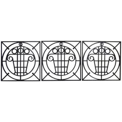 5 Art Deco Cast Iron Fences