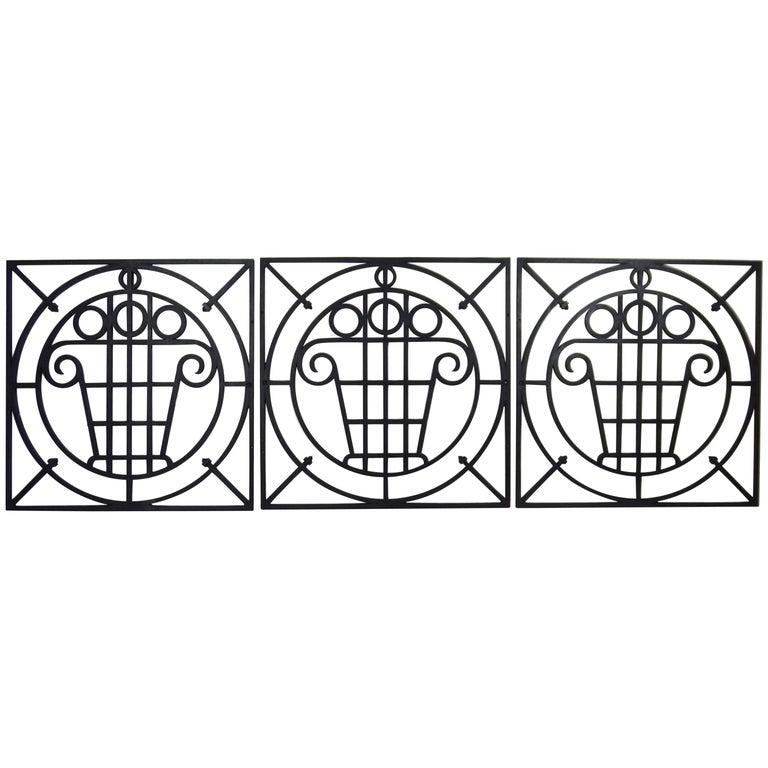 5 Art Deco Cast Iron Fences For Sale