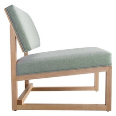 SQ Lounge Chair in Maple Hardwood and Maharam Wool Upholstery, handmade in USA