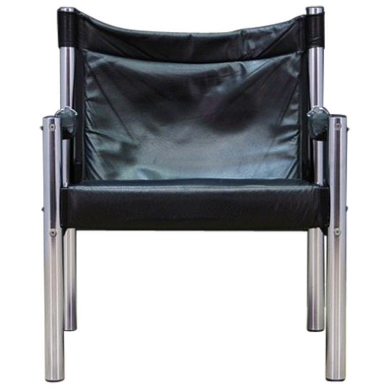 Vintage Leder Sessel Skandinavisches Design Im Angebot Bei 1stdibs