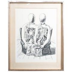 "Giorgio De Chirico Lithographie ""Gli Archeologico"", 1970"