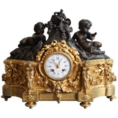 19th Century Raingo Gilt Bronze Clock