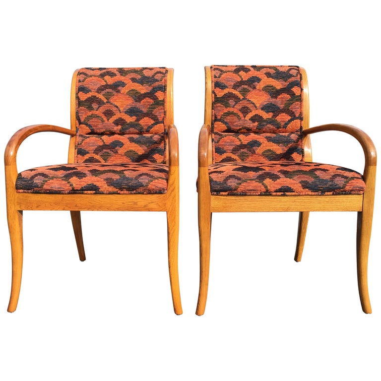 Pair of Armchairs in the Style of Robsjohn-Gibbings For Sale
