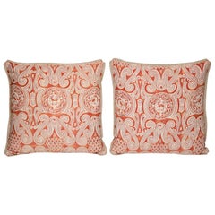 Pair of Fortuny Fabric Cushions in the Peruviano Incan Pattern
