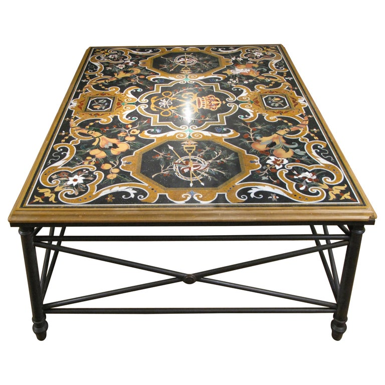 Italian Pietra Dura Table For Sale