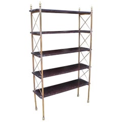 1970s French Freestanding Bronze Bookshelf in the Style of Maison Jansen