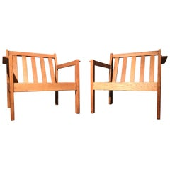 2 Vintage Easy Chairs by Erik Wørts for FDB of Denmark