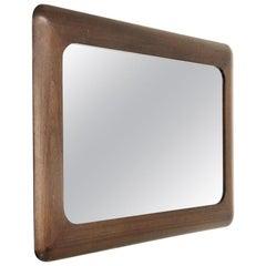 Midcentury Wood Frame Mirror, 1970s