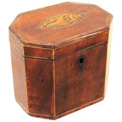 18th Century Mahogany Octagonal Shaped Antique Tea Caddy