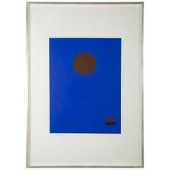 """Blue Night"" a Silkscreen by Adolph Gottlieb"