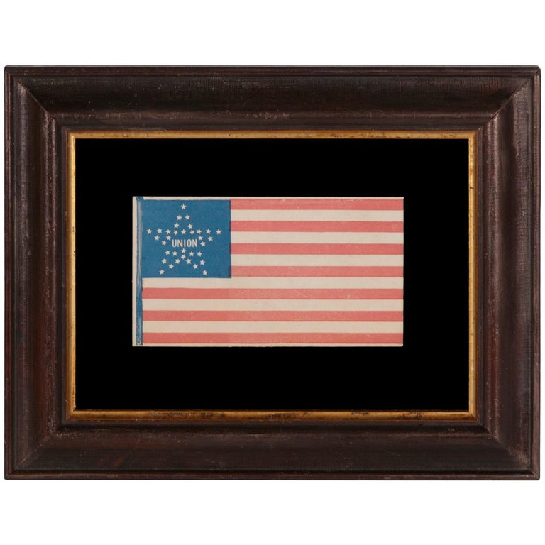 34 Star American Flag Cover with a Great Star Pattern For Sale