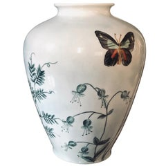 Royal Berlin KPM Porcelain Vase Butterflies by Petri-Ruben, 1935
