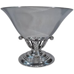 Georg Jensen Hand-Hammered Sterling Silver Footed Bowl