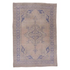 Antique Oushak Rug with a Light Palette