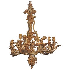 19th Century French Monumental Chandelier after Jacques Caffiéri