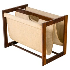 Linen Magazine Holder Attributed to Kai Kristiansen, Denmark, 1960s