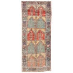 Türkische anatolische Läufer Teppich, 1900 s