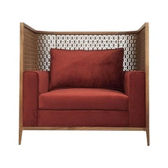 Harem Contemporary Love Seat in American Walnut