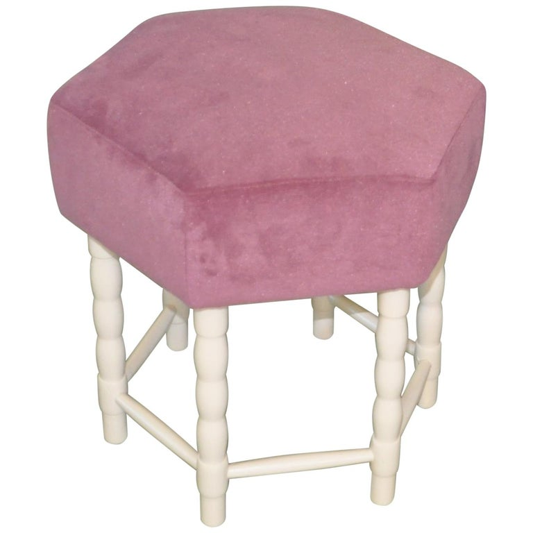 Midcentury Stool or Ottoman, 1960s For Sale