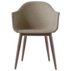 Harbour Chair, Dark Oak, Sandy Brown Fabric
