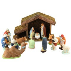 Hakata Wasaki Japanese Ceramic Nativity Scene Figurines