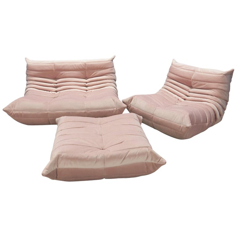 Three Piece Togo Set by Michel Ducaroy Manufactured by Ligne Roset in France For Sale