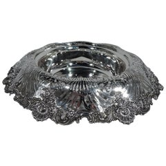 Antique Tiffany Sterling Silver Shell and Scroll Small Centerpiece Bowl