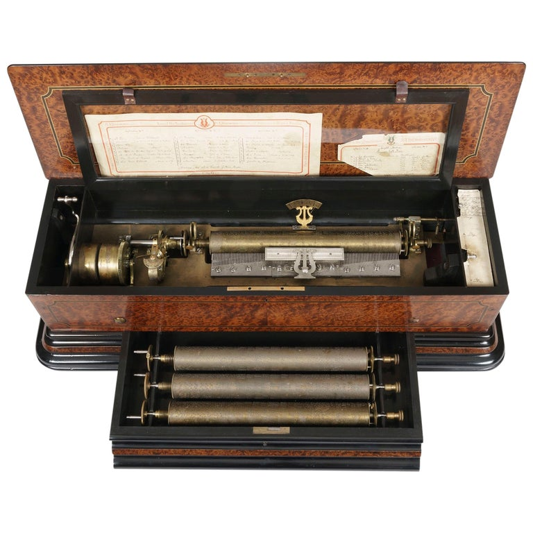 Grand 19th Century Swiss-Made Musical Box For Sale