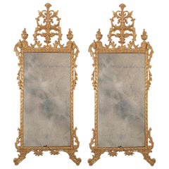 Pair of Gilt Italian Neoclassical Mirrors