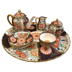 Fine Royal Worcester Porcelain Tea Service 1881, Imari, English, Tray