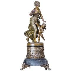 19th Century Bronzed Zamak Figurine
