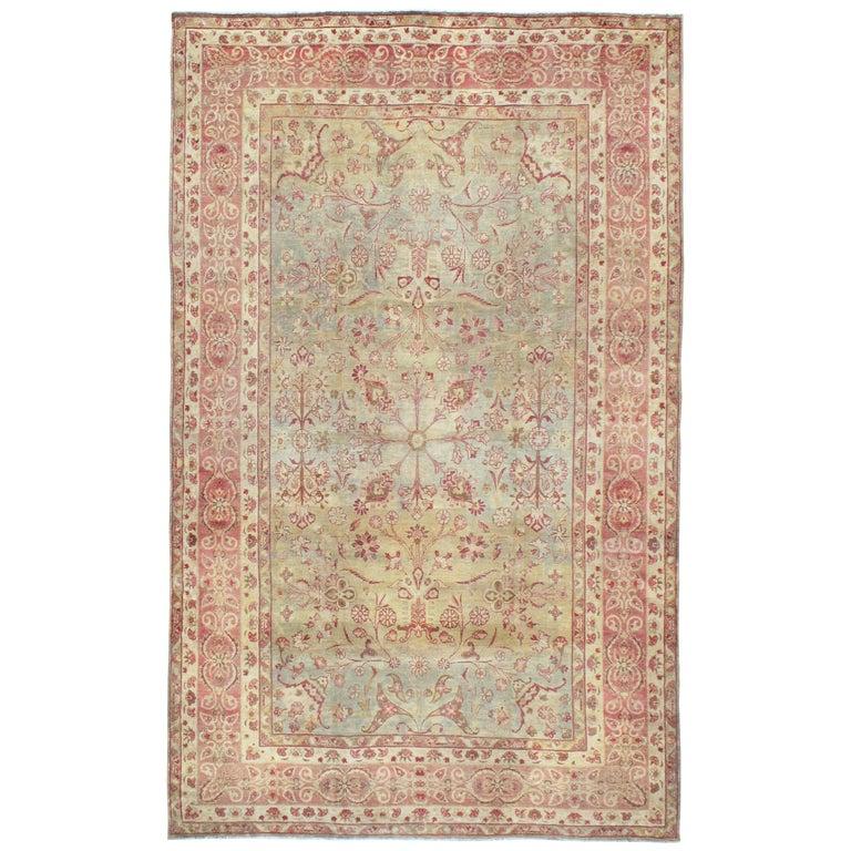 Antique Persian Lavar Kerman Rug For Sale