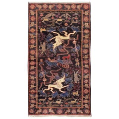 Vintage Persian Baluch Pictorial Rug