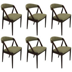 1960s Kai Kristiansen Twelve Rosewood Dining Chairs with Upholstery of Choice