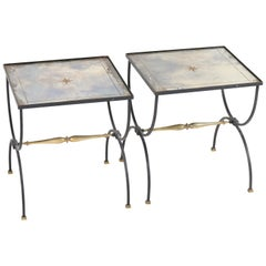 Pair of French Neoclassical Cocktail Tables in the Style of Jean Royère, 1950s