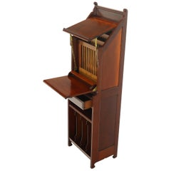 Mechanical Music Conductor Singer Stand Podium Storage Cabinet Solid Mahogany
