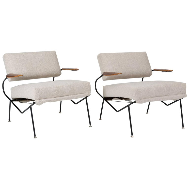 Pair of California Modern Lounge Chairs by Dan Johnson for Selig For Sale
