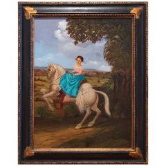 Young Girl on Horseback