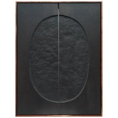 Hand Carved Black Painting by Julian Watts