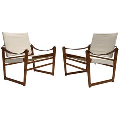 "Restored 1950s Pair of ""Cikada"" Lounge Chairs by Bengt Ruda for Ikea, Sweden"