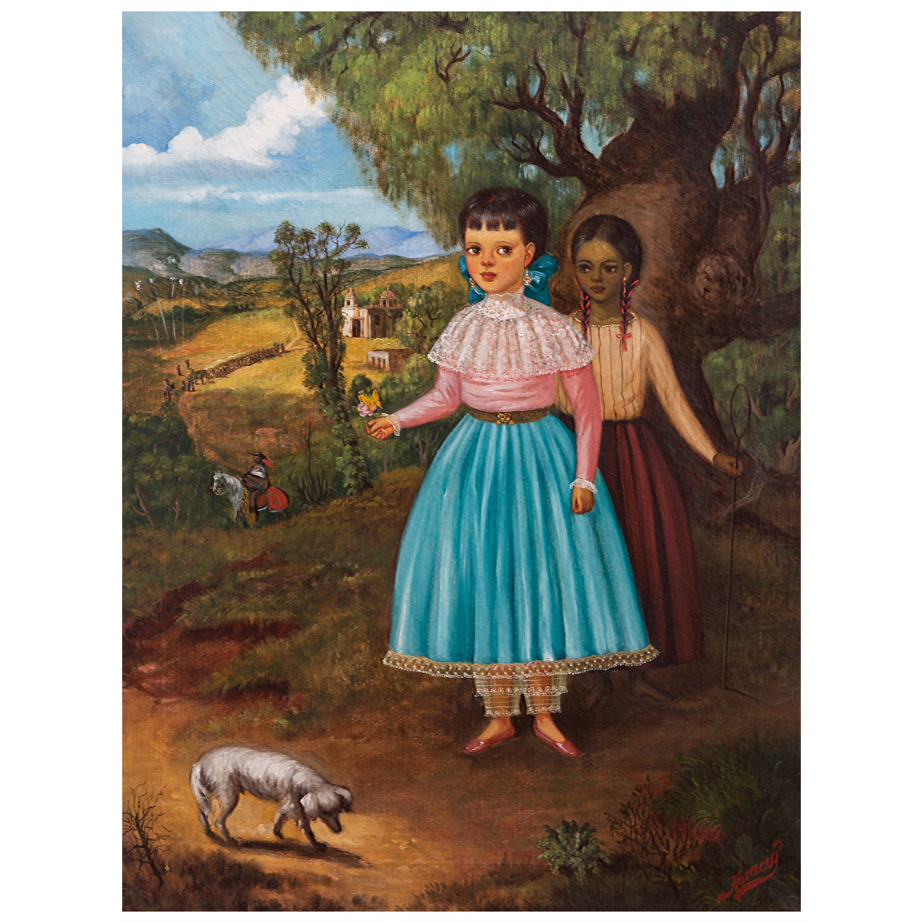 Portrait of Two Young Girls