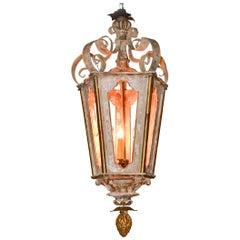 19th Century Italian Wood Lantern