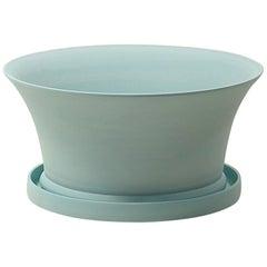 Porcelain Bulb Pan in Matte Denim