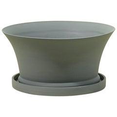 Porcelain Bulb Pan in Matte Steel Grey