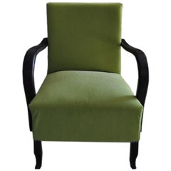 Art Deco Green, Armchair, circa 1920s