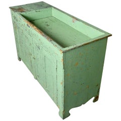 Primitive Farmhouse Dry Sink Cupboard in Original Paint