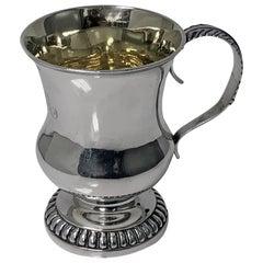 Scottish Aberdeen Georgian Silver Mug Tankard, George Booth, circa 1810-1820
