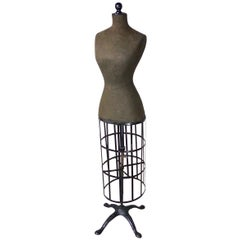Victorian ACME Dress Form with Cast Iron Base