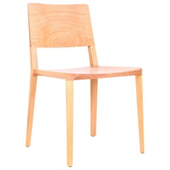 Minimalist Chair in Hardwood Without Arms
